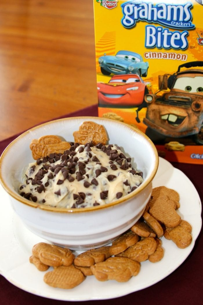 Enjoy! Chocolate Chip Cookie Dough Dip with your favorite sweet cracker : )