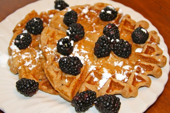 Spiced Sour Cream Waffles