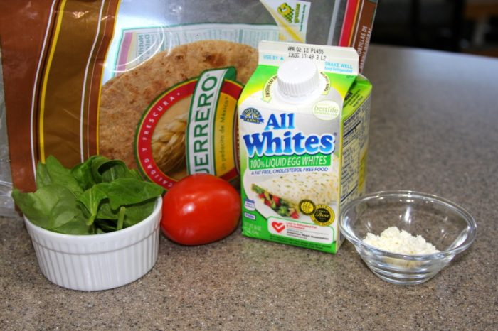 Ingredients for Starbucks Spinach and Feta Breakfast Wraps (copycat)