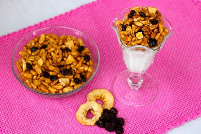 Enjoy as a trailmix, breakfast cereal, or a parfait