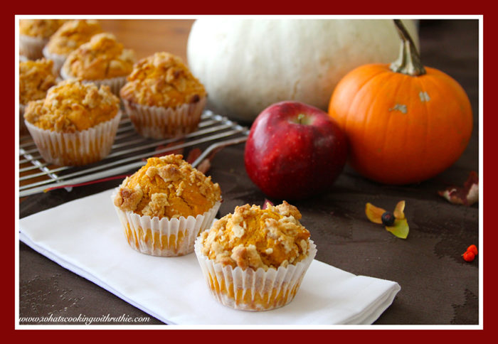 Apple Pumpkin Strudel Muffin by whatscookingwithruthie.com