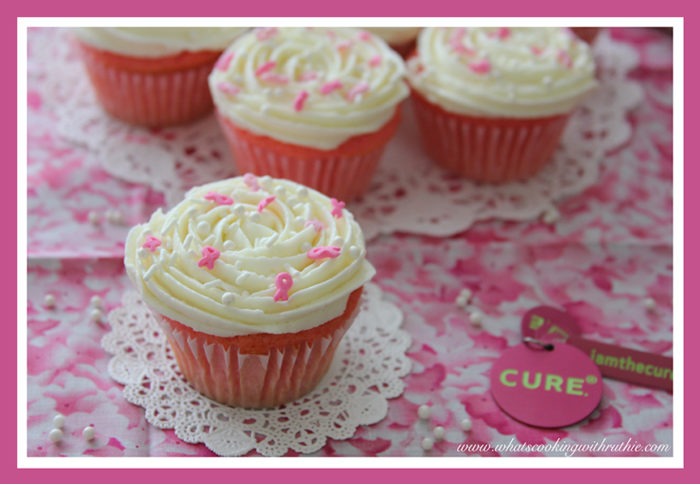 Breast Cancer Awareness Cupcakes by whatscookingwithruthie.com