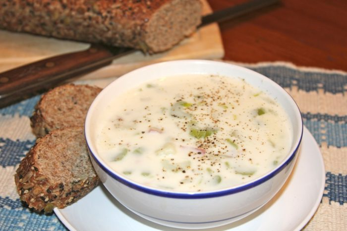 Gram's Clam Chowder by whatscookingwithruthie.com