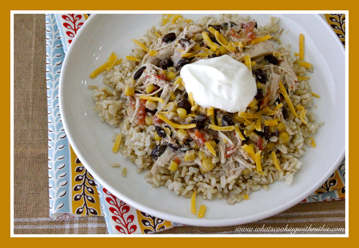 Southwest Chicken and Rice by whatscookingwithruthie.com