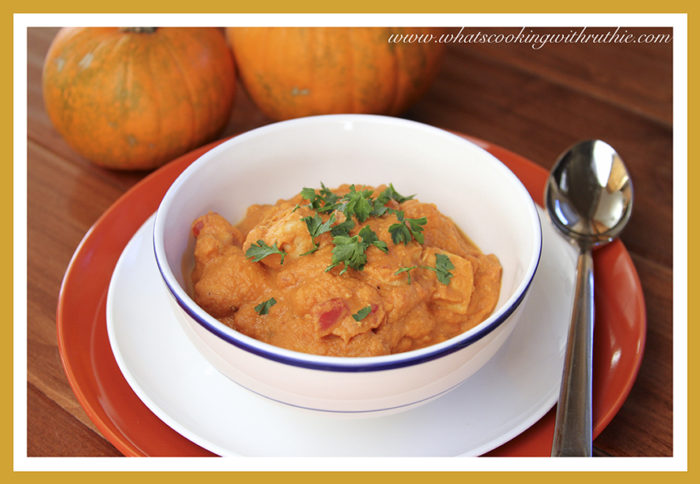 Thai Chicken Pumpkin Stew by whatscookingwithruthie.com