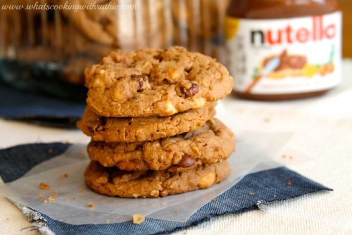 Nutella 5 Chip Cookies by www.whatscookingwithruthie.com
