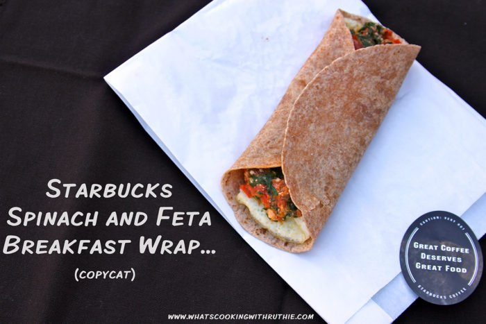 Our Starbucks Spinach Feta Wrap (copycat) Recipe is so good that I'm completely addicted! by cookingwithruthie.com