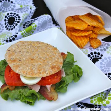 Cobb Salad Sandwich Titled