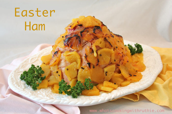 Our Easter Ham Recipe is the perfect spring pineapple ham recipe for your Easter celebrations this year! by cookingwithruthie.com