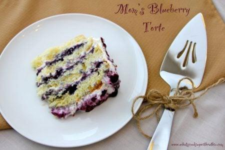 Mom's Blueberry Torte
