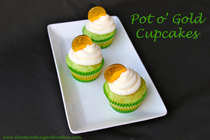 Today's Pot o' Gold Cupcakes Recipe are a festive and sweet addition to your St. Patrick's Day celebrations!by cookingwithruthie.com