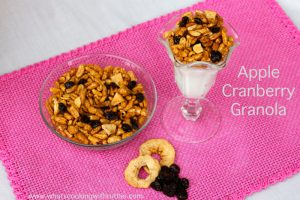 Apple Cranberry Granola