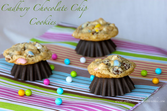 Our Cadbury Chocolate Chip Cookies Recipe are hands-down a long time family favorite! by cookingwithruthie.com