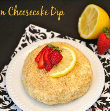 Lemon Cheesecake Dip Title