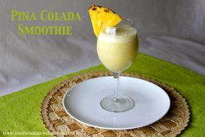 Pina Colada Smoothie Titled