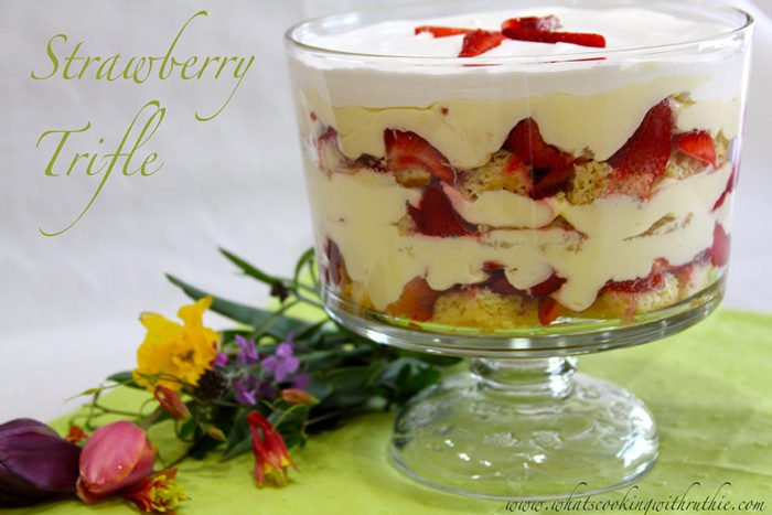 Strawberry Trifle - Cooking With Ruthie