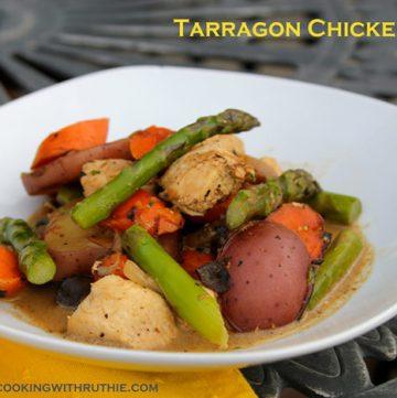 Tarragon Chicken Dish Titled2