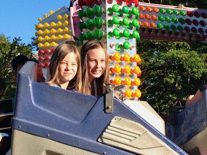 Abbie and Lexie at the Fair!