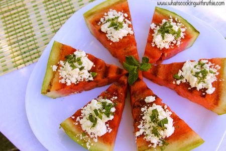 Grilled Watermelon with Feta and Mint