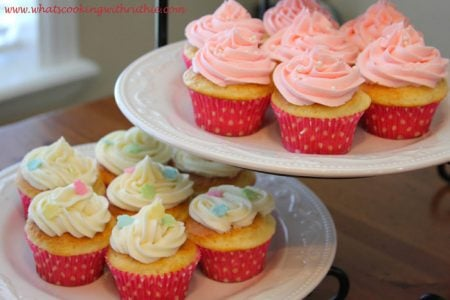 Pink Rose and Lemon Cream Cheese Frosting