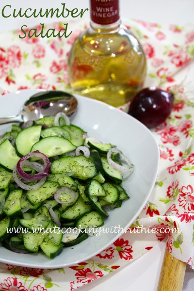 Cucumber Salad… is a fabulous recipe for fresh garden produce or ...