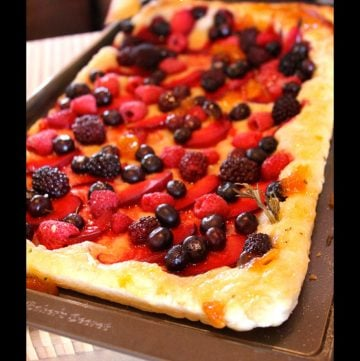 Evo and a Rustic Fruit Tart by whatscookingwithruthie.com