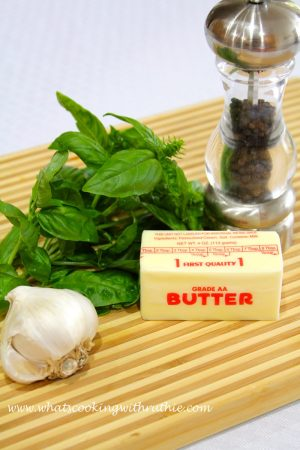 Garlic Basil Butter by whatscookingwithruthie.com