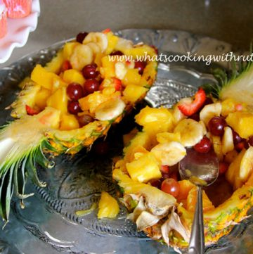 Pineapple Bowl Fruit Salad by whatscookingwithruthie.com