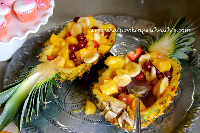 Pineapple Bowl Fruit Salad Cooking With Ruthie