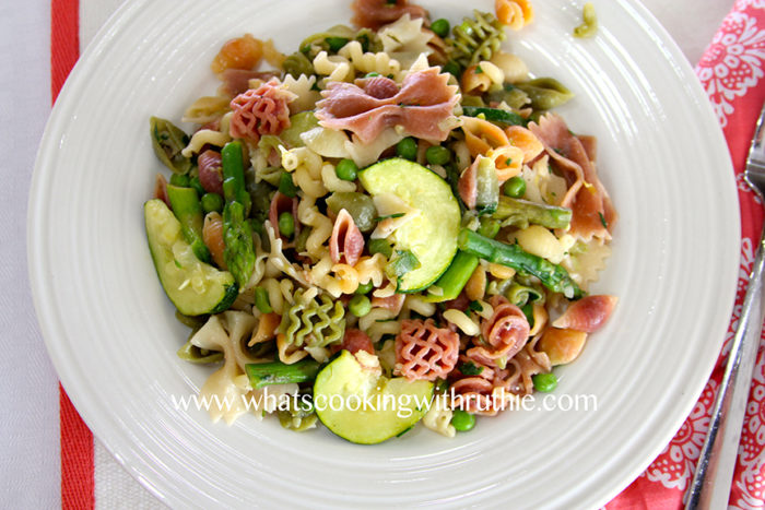 Summer Garden Pasta by whatscookingwithruthie.com
