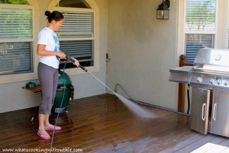 Pressure Washing the deck