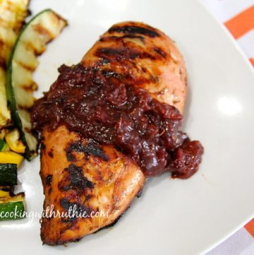 Cherry Chipotle Chicken by whatscookingwithruthie.com