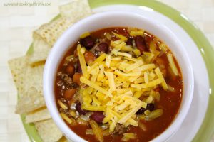 Easy Peazy Chili by whatscookingwithruthie.com