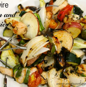 Firewire Chicken and Veggies by whatscookingwithruthie.com