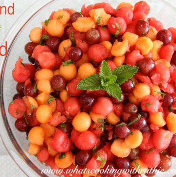 Fruit and Mint Salad by whatscookingwithruthie.com