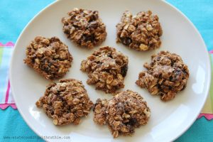 Healthy Oatmeal Raisin Cookies by whatscookingwithruthie.com