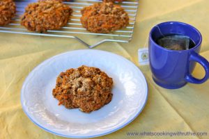 Tea and Carrot Cake Scones by whatscookingwithruthie.com