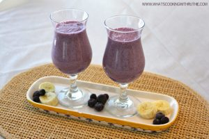 blueberry banana smoothie by whatscookingwithruthie.com