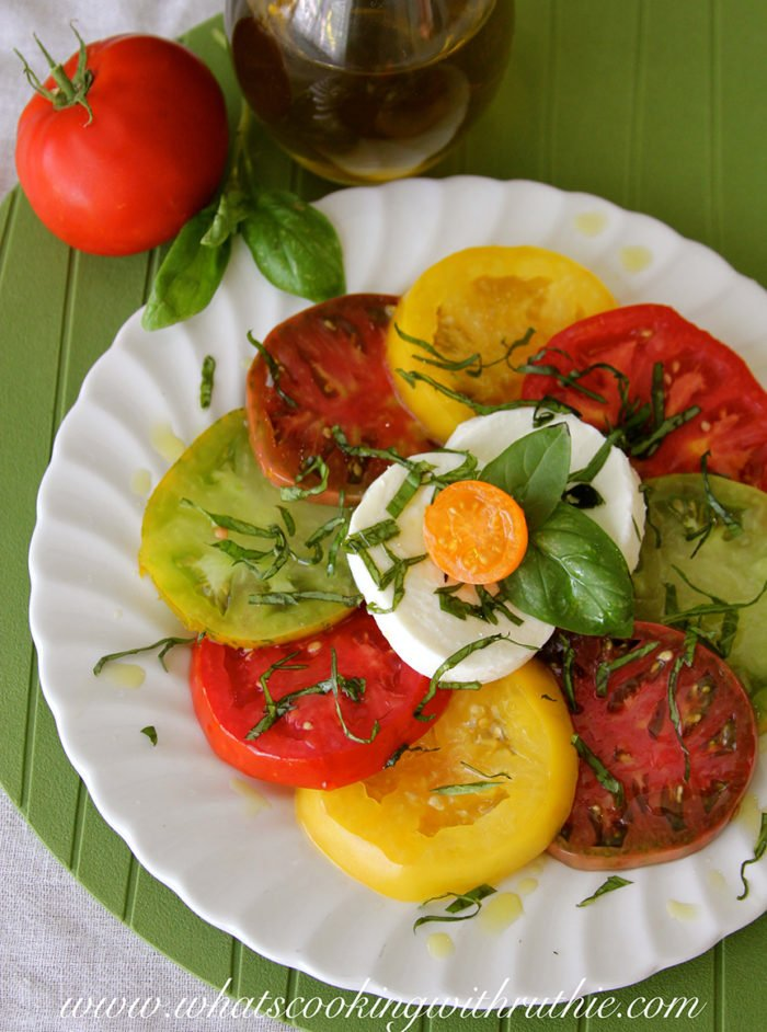 Caprese Salad by whatscookingwithruthie.com