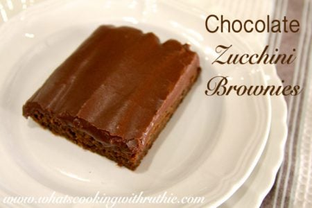 Chocolate Zucchini Brownies by whatscookingwithruthie.com
