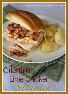 Cilantro Lime Chicken Sandwich by whatscookingwithruthie.com