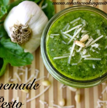Homemade Pesto by whatscookingwithruthie.com