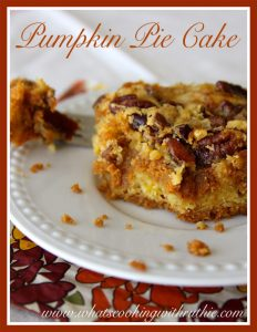 Pumpkin Pie Cake by whatscookingwithruthie.com