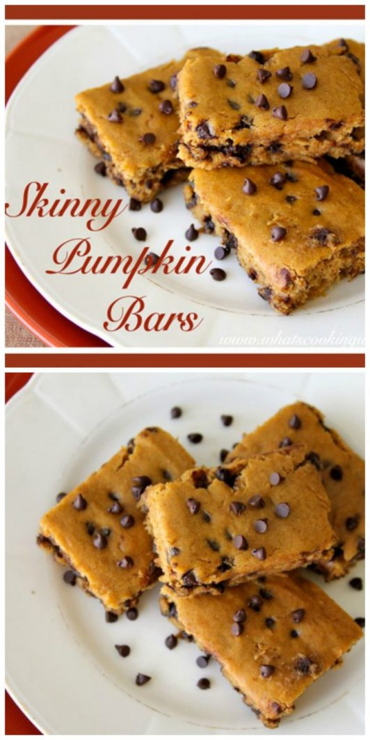 Skinny Pumpkin Bars on www.cookingwithruthie.com will make memories for your autumn baking!