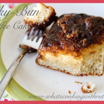 Sticky-Bun Coffee Cake by whatscookingwithruthie.com