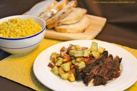 Brisket and Rosemary Potatoes by whatscookingwithruthie.com