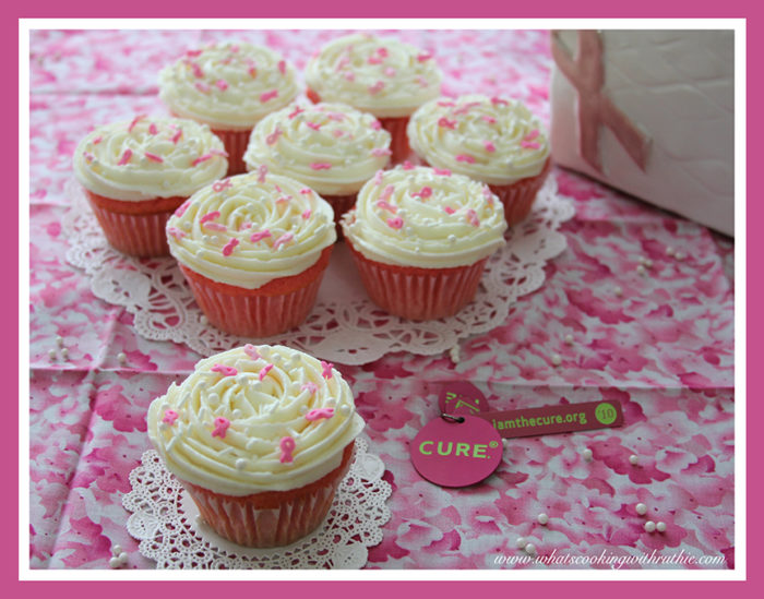 Breast Cancer Cupcakes by whatscookingwithruthie.com