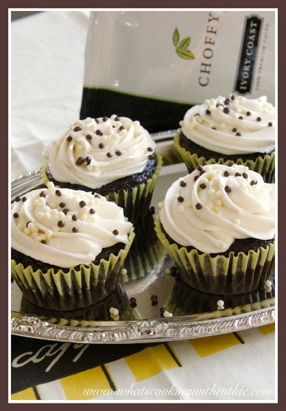 Choffy Chocolate Cupcakes by whatscookingwithruthie.com