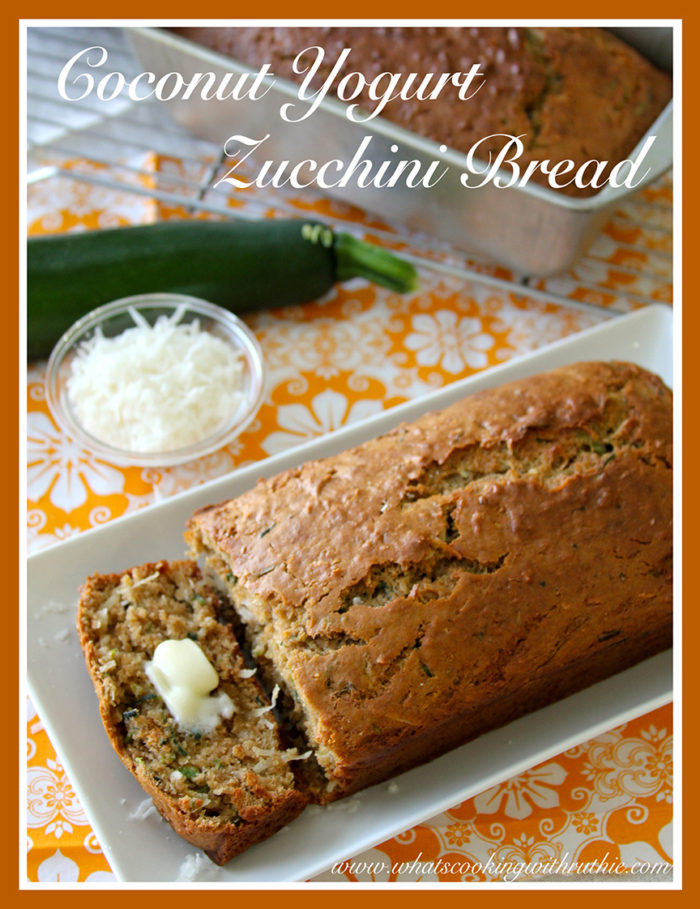 Coconut Yogurt Zucchini Bread by whatscookingwithruthie.com