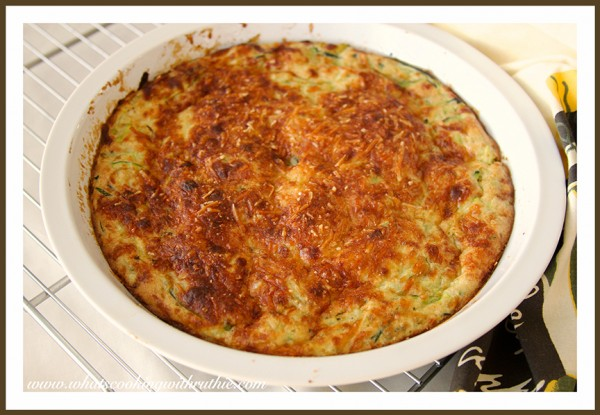 Crust-less Zucchini Pie by whatscookingwithruthie.com